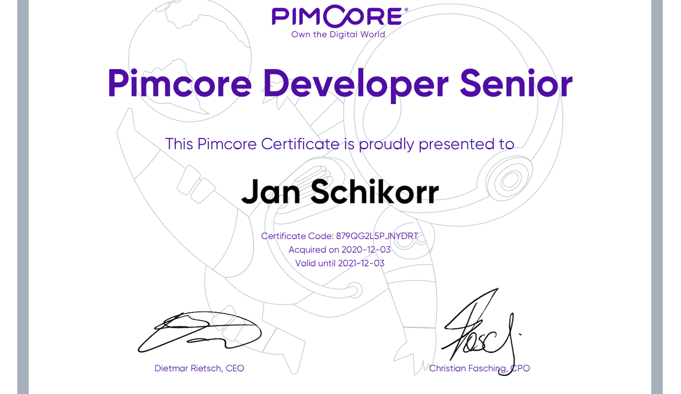 Pimcore Developer